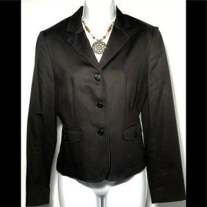 LKNW TALBOTS Black Stretch Blazer Jacket Size 4